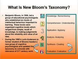 THE NEW BLOOM'S TAXONOMY: PRESENTATION