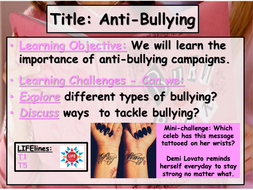Anti-Bullying SMSC Lesson