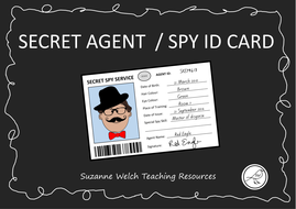 Spy ID / Secret Agent ID - Template by swelch_resources - Teaching ...