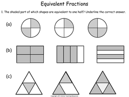 Equivalent Fractions - Year 2 by Teacher-of-Primary - Teaching ...