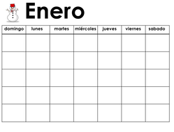 Calendar Days Of The Week In Spanish.Spanish Calendar Days And Months