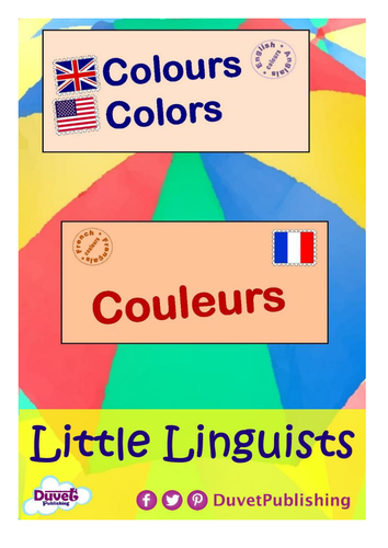 English > French: Numbers & Colours Vocabulary Books