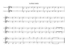 In Dulci Jubilo instrumental for School Ensemble