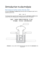 ks4 electrolysis an introduction to electrolysis teacher ppt 3 student worksheets by. Black Bedroom Furniture Sets. Home Design Ideas