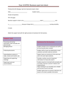 BTEC Business First Award Edexcel Level 2 resources for