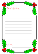 Letters to santa and word bank by littleprimaryteacher teaching letter to santa x 9 and word bank spiritdancerdesigns Image collections