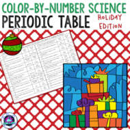 Holiday themed periodic table colour by number activity by holiday themed periodic table colour by number activity urtaz Images