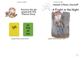 A Fright in the Night, Phonics Story Pack, igh sound