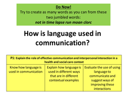 role of effective communication and interpersonal interaction
