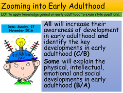 Health and Social GCSE life stages Early Adulthood exam technique lesson