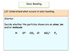 New AQA GCSE Ionic Bonding