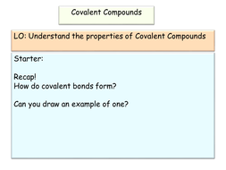 New AQA GCSE Covalent Compound Properties