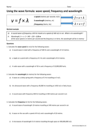 GCSE physics: wave speed equation practice (wavespeed ...