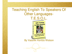 CPD and ITT/NQT Training on TEFL