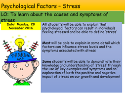 Psychological Factors Stress Health And Social Care Gcse Edexcel