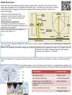 Wind Generators revision guide