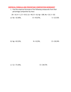 EMPIRICAL FORMULA WORKSHEET WITH ANSWER