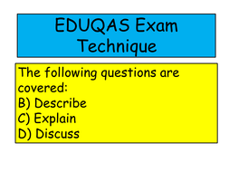 EDUQAS 2016  Religous Education exam technique guide