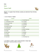 french christmas lesson ks3 ks4 vocabulary. Black Bedroom Furniture Sets. Home Design Ideas
