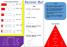Year 6 Maths Revision Mat by krisgreg30 | Teaching Resources