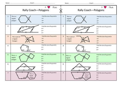 Rally Coach ONESIE for Angles and Polygons