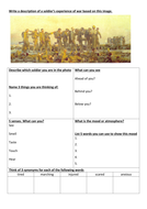 Descriptive writing about war (WW1 trenches) AQA English Language Paper 1 Section B