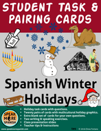 Spanish Christmas, Los Reyes Magos and Other Winter Holidays Task Cards and More - Navidades