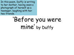 Before-you-were-mine-Duffy.pptx