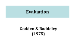 godden & baddeley 1975