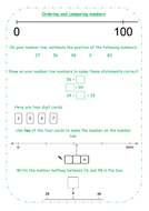 Year 3 Maths Lesson Starter - Differentiated Number Lines