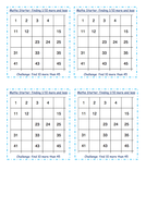 Year 3 Maths Starter Activities - Missing Numbers on Number Lines - Differentiated