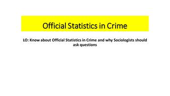 official statistics sociology