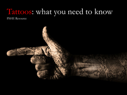 Tattoo - Think before you ink!