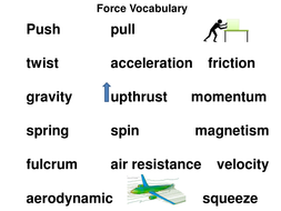 Science Forces Vocabulary Word Matching Activity- KS2 Year
