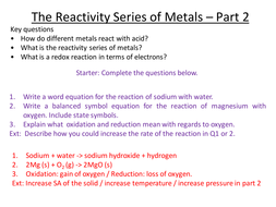 Aqa 2017 reactivity series part 2 by runchick2016 teaching 32 the reactivity series of metals 2 metals urtaz Images