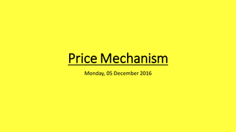 role of price mechanism in economics