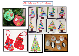 Christmas Craft Ideas Poster By Little Primary Teacher Teaching