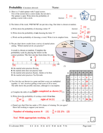 Probability homework or revision resource