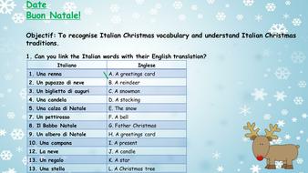 italian christmas vocabulary and traditions ks3 ks4 whole lesson