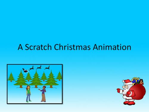 Scratch Christmas Animation KS2