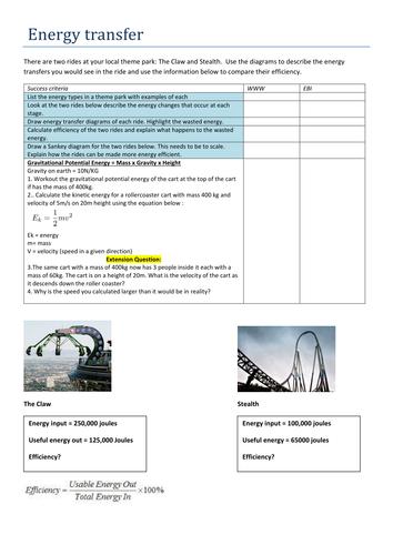 GCSE  Energy transfer graded task