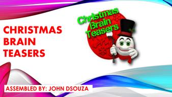 Christmas Brain Teasers.Christmas Brain Teasers Presentation