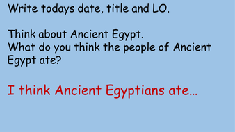 Ancient Egypt - Food lesson
