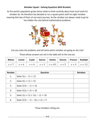 Reindeer-Squad---Solving-Equations-With-Brackets---Questions.docx