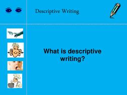 Descriptive Writing Lesson PPT and lesson plan