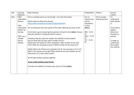 Y3 Division Weekly plan