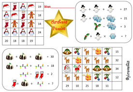 christmas algebra puzzles by pbrucemaths teaching resources tes