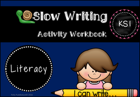 slow writing workbook worksheets for ks1 by pollypuddleduck teaching resources. Black Bedroom Furniture Sets. Home Design Ideas