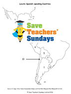 Spanish-Speaking Countries Lesson Plan, PowerPoint and Worksheets ...