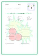Navidad Christmas Worksheet Vocabulary and Translation English and Spanish